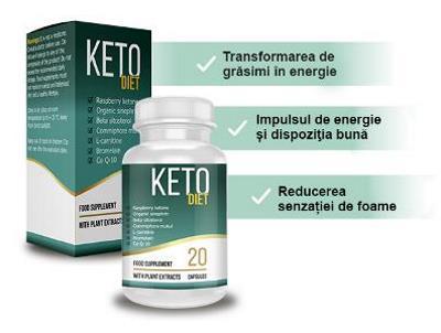 Pastile de slabit Keto Diet, mod de administrare, ingrediente, prospect