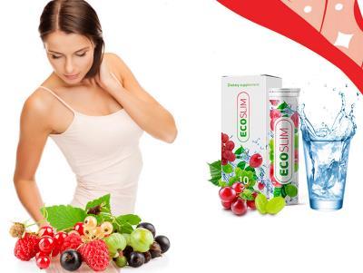 EcoSlim Fizzy pastile efervescente pentru pierderea in greutate, ingrediente, Romania