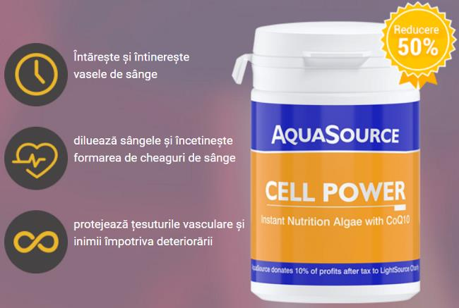 AquaSource Cell Power pastile pentru hipertensiune